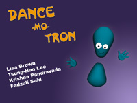 Dance-mo-tron title screen